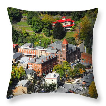 Jim Thorpe Pa Throw Pillow by Cindy Manero