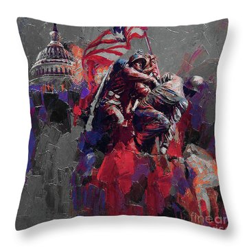 Jima Memorial  Throw Pillow by Gull G