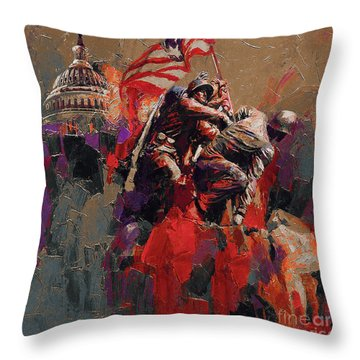Jima Memorial Washington Dc Throw Pillow by Gull G