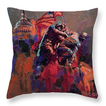Jima Memorial Washington  Throw Pillow by Gull G