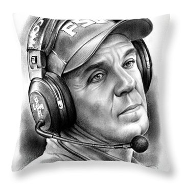 Jimbo Fisher Throw Pillow by Greg Joens