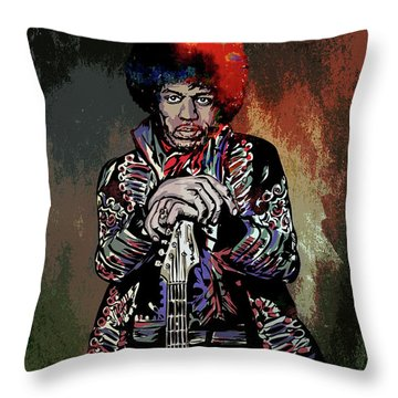 Jimi  Throw Pillow