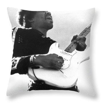 Jimi Hendrix (1942-1970) Throw Pillow by Granger