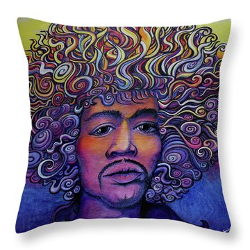 Jimigroove Throw Pillow