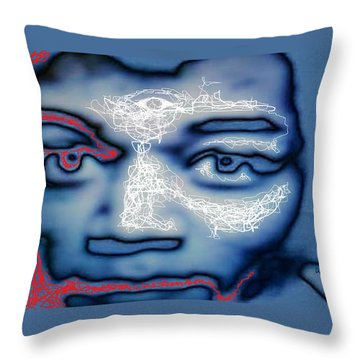 Jimi Hendrix Oh Say, Can You See The Rockets Red Glare Throw Pillow