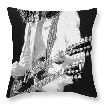 Jimmy Page - Led Zeppelin Throw Pillow