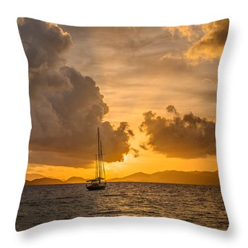 Jimmy Buffet Sunrise Throw Pillow