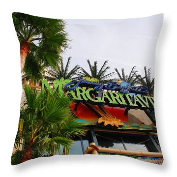 Jimmy Buffets Margaritaville In Las Vegas Throw Pillow