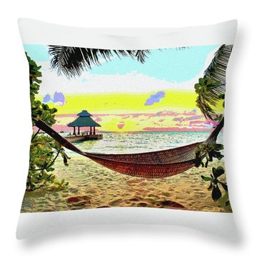 Jimmy Buffett's Margaritaville Throw Pillow by Charles Shoup