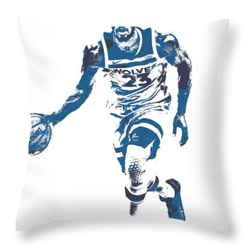 Jimmy Butler Minnesota Timberwolves Pixel Art 5 Throw Pillow