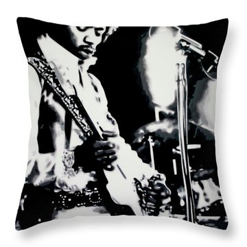 Jimmy Hendrix Purple Haze Throw Pillow