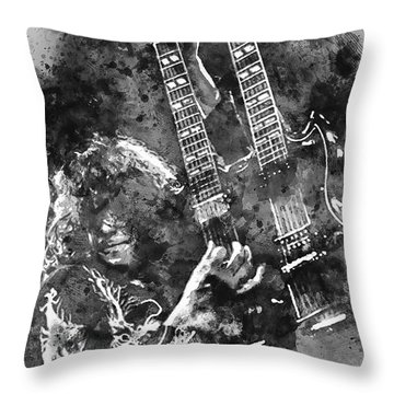Jimmy Page - 02 Throw Pillow