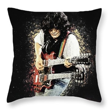 Jimmy Page II Throw Pillow