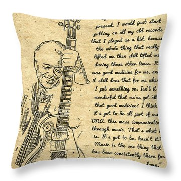 Jimmy Page Quote Throw Pillow