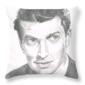 Jimmy Stewart Throw Pillow