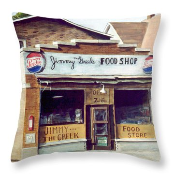 Jimmy The Greek Throw Pillow