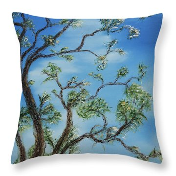 Jim's Tree Throw Pillow