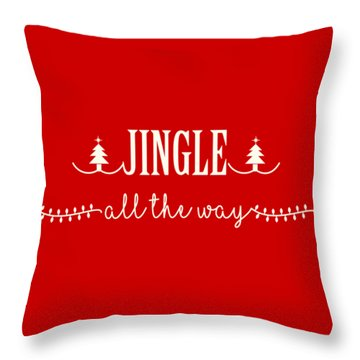 Throw Pillow featuring the digital art Jingle All The Way by Heidi Hermes