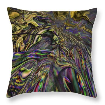 Throw Pillow featuring the digital art Jingle Pete Senior by Steve Sperry