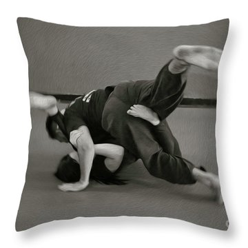 Jiu Jitsu Throw Pillow