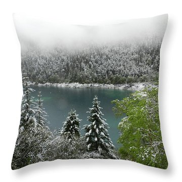Jiuzhaigou National Park, China Throw Pillow