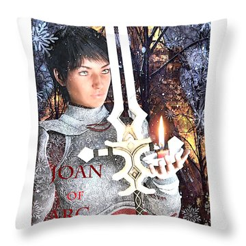 Joan Of Arc Poster 2 Throw Pillow