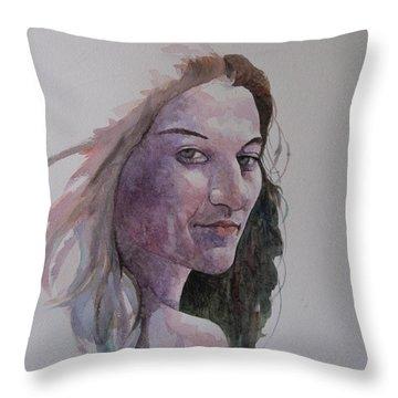 Joanna Throw Pillow by Ray Agius