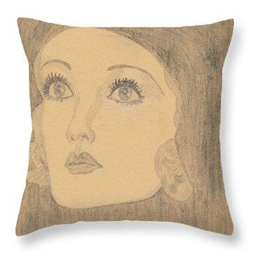 Joanne Bennett  Throw Pillow