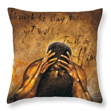 Job Throw Pillow by Christopher Marion Thomas