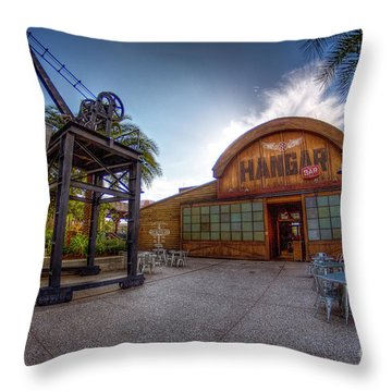 Jock Lindsey's Hangar Bar Throw Pillow