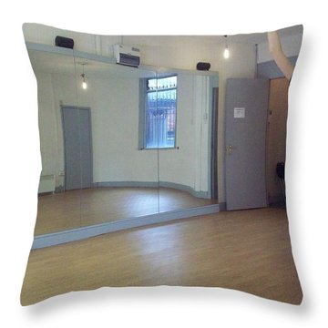 Jodie Ballet Throw Pillow by Judith Desrosiers
