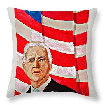 Joe Biden 2010 Throw Pillow by Ken Higgins