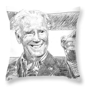 Joe Biden Throw Pillow by Shawn Vincelette