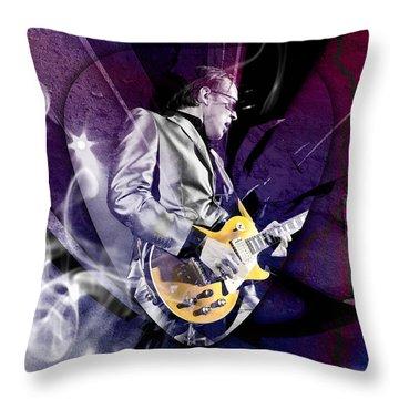 Joe Bonamassa Art Throw Pillow by Marvin Blaine