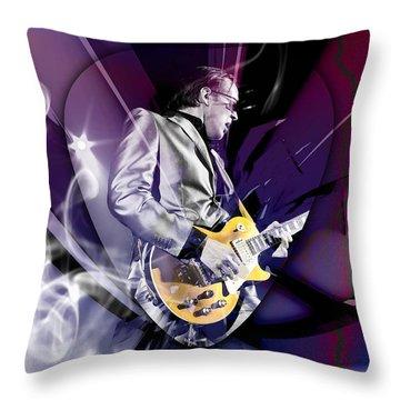 Joe Bonamassa Blues Guitarist Art Throw Pillow by Marvin Blaine