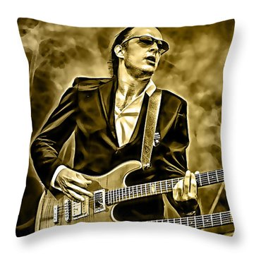 Joe Bonamassa Collection Throw Pillow