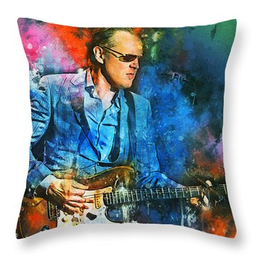 Joe Bonamassa Concerts Throw Pillow