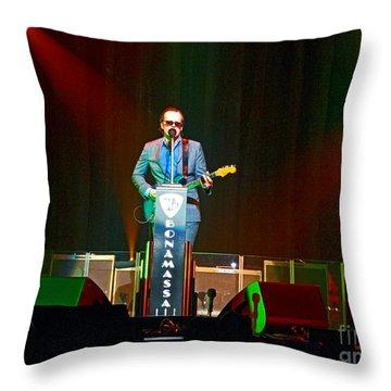 Joe Bonamassa - Live Performance In Eugene Oregon  Throw Pillow