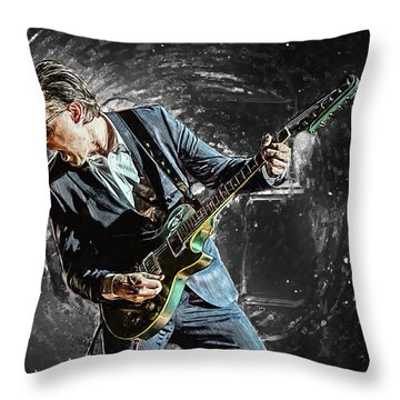Joe Bonamassa Throw Pillow by Taylan Apukovska