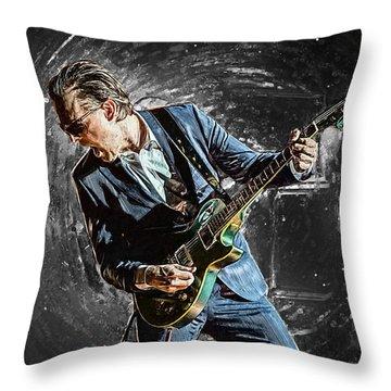 Joe Bonamassa Throw Pillow by Taylan Apukovska