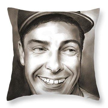 Joe Dimaggio Throw Pillow
