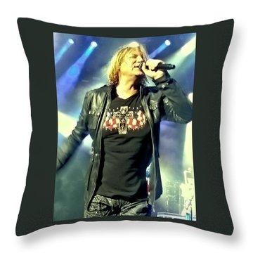 Joe Elliott Of Def Leppard Throw Pillow