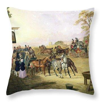 Joe Fry's Inn  Throw Pillow by Anson A Martin