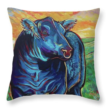 Joe Throw Pillow by Jenn Cunningham