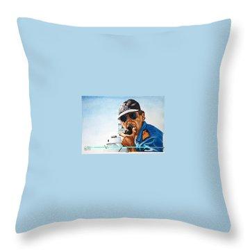Joe Johnson Throw Pillow by Tim Johnson