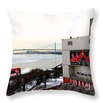 Throw Pillow featuring the photograph Joe Louis Arena by Michael Rucker
