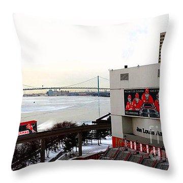 Joe Louis Arena Throw Pillow