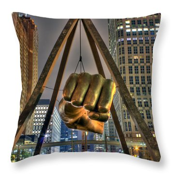 Joe Louis Fist Detroit Mi Throw Pillow