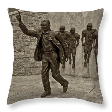 Joe Paterno Throw Pillow by Jack Paolini