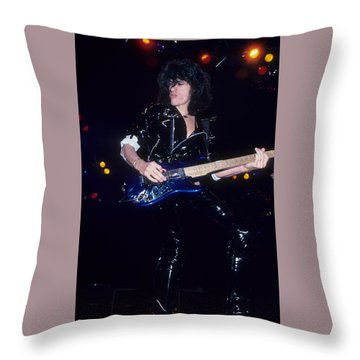 Joe Perry Throw Pillow by Rich Fuscia